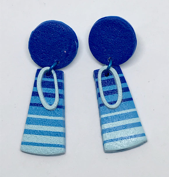 Beach Towel earrings #3 (141001B)