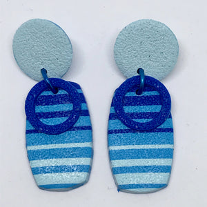 Beach Towel earrings #4 (141001A)