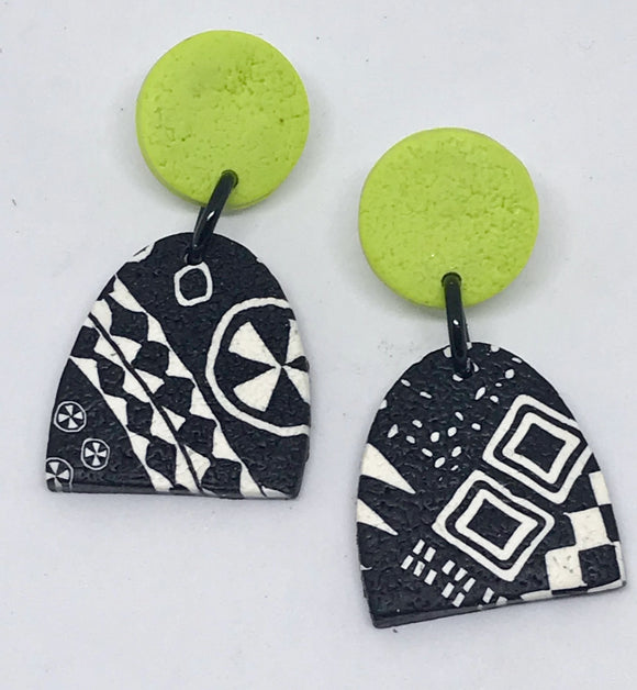 Paradise earrings-wasabi 141001S