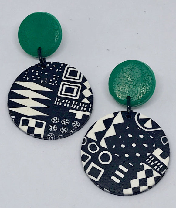 Paradise earrings-bottle green 141001Q
