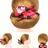Wire Bun Roll - White with Gold Diamonds