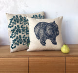 Wombat front + back cushion – navy