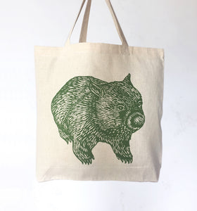 Wombat front + back tote bag