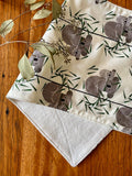 Burp cloth - grey koalas
