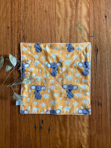 Wash cloth - yellow koalas