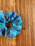 Scrunchies - turquoise magpies