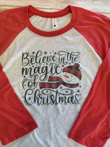 Believe In The Magic of Christmas Raglan