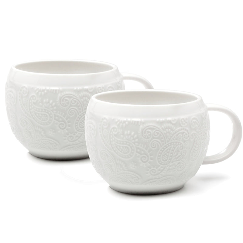 Natural Living | Lot de 2 tasses en porcelaine Chalet Chic
