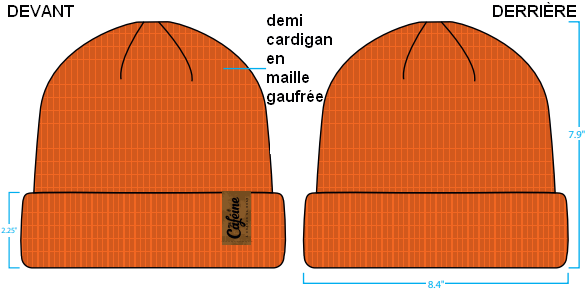 Ma Caféine | Tuque orange à mailles