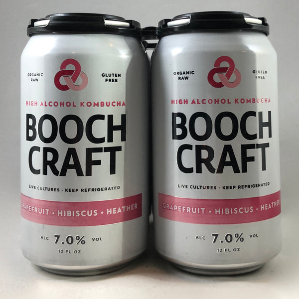 Booch Craft Grapefruit Hibiscus Heather Hard Kombucha