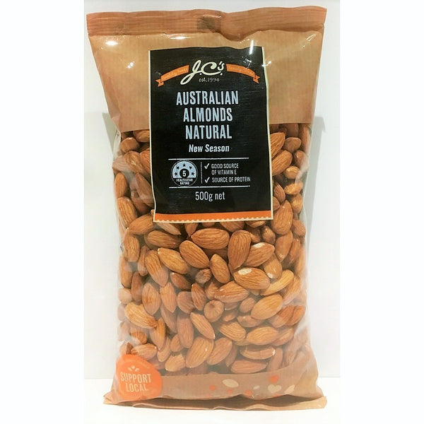 JCs Almond Natural 500g/pk