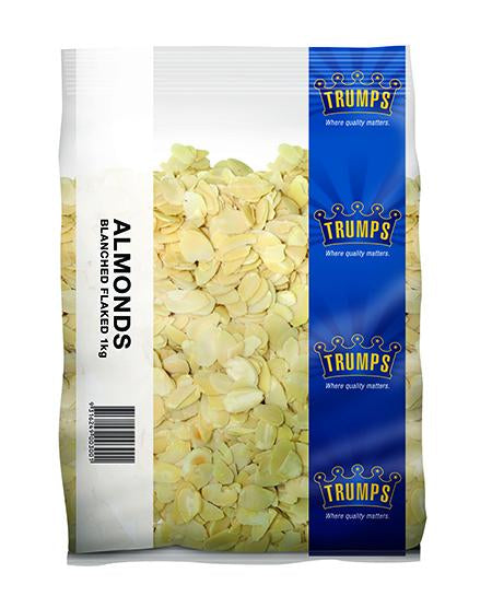 Trump Almonds Bleached Flaked 1kg/pk
