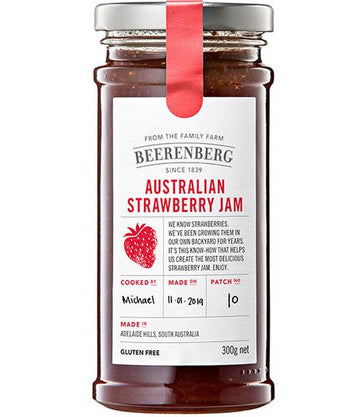 BEERENBERG AUSTRALIAN STRAWBERRY JAM 300G