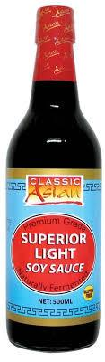 CLASSIC ASIAN SUPERIOR LIGHT SOY SAUCE 500ML