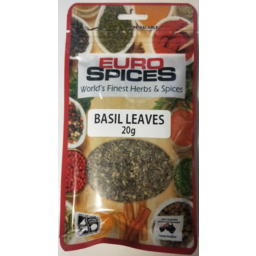 EURO SPICES BASIL LEAVES 20G