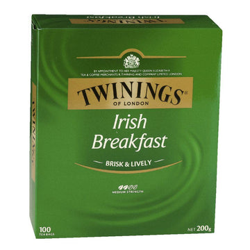 Twinings Irish Breakfast Tea Bags 100pk 200g