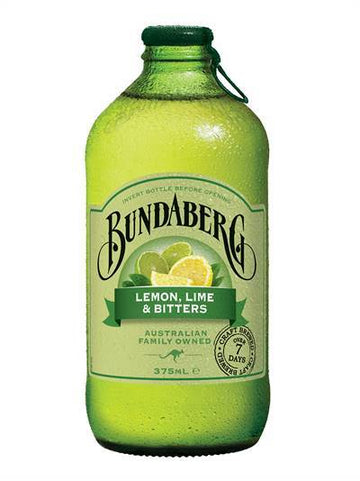 BUNDABERG LEMON LIME AND BITTERS SPARKING DRINK 375ML