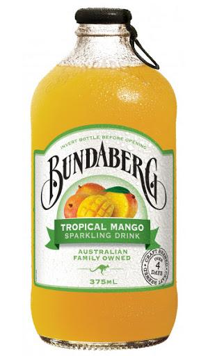 BUNDABERG MANGO SPARKING DRINK 375ML