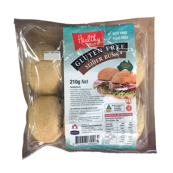 HEALTHY LIVING SLIDER BUNS 210G GF