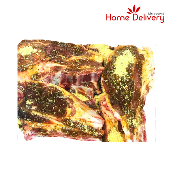MARINATED LAMB CHOPS- HONEY MINT AND ROSEMARY 1KG/PK