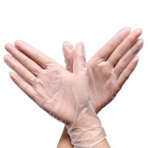Vinyl Low Powder Clear Gloves Large 100pc/pk