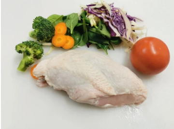 Chicken Half Breast Fillet Skin On 1kg/pk RSPCA
