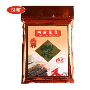 Seasoned Seaweed Hot 100pc/pk