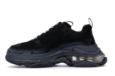 Balenciaga Triple S Black Pre Distressed Review On feet