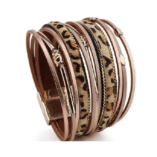 Animal Print Leather Bracelets - Multiple styles - Ella Moore