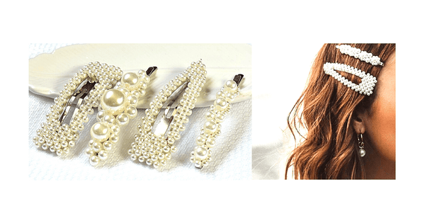 Large Pearl Clip for Hair 4 piece set - Ella Moore