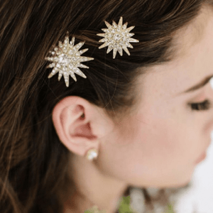 Large Sparkling Star Hair Pins - Ella Moore