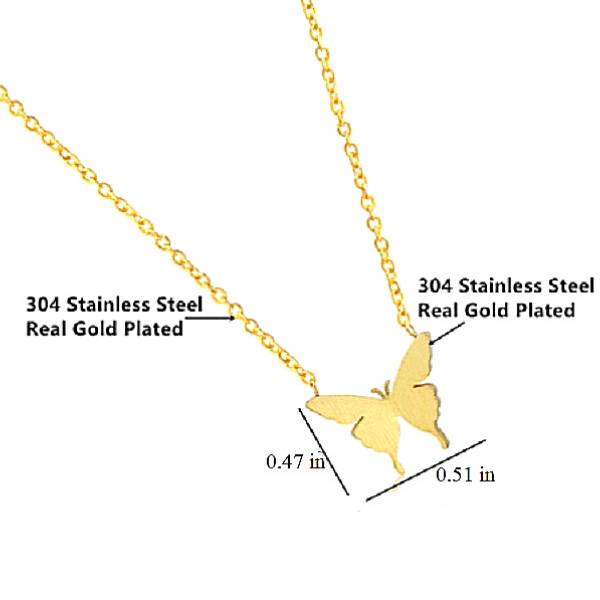 Petite Gold or Silver Butterfly Necklace