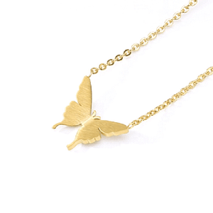 Petite Gold Butterfly Necklace - Ella Moore