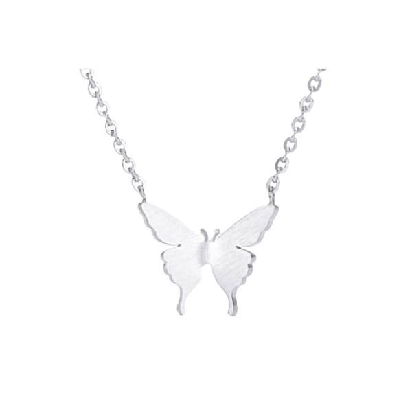 Petite Silver Butterfly Necklace - Ella Moore