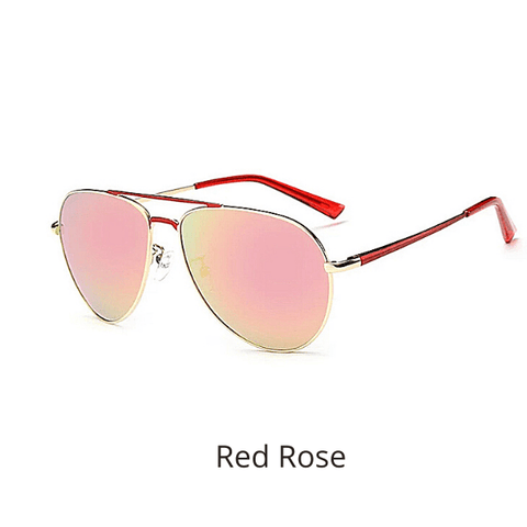 Red Rose Mirrored Polarized Men Women Aviator Sung;asses UV400 UV 400 - Ella Moore