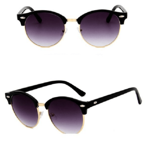 Retro Oculos Metal Classic Gafas de Sol Soft Purple Lens Women Sunglasses - Ella Moore