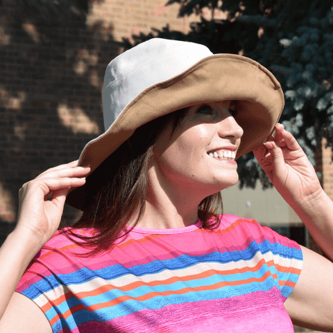 Double Sided 2 Tone Cotton Bucket Hat - Ella Moore