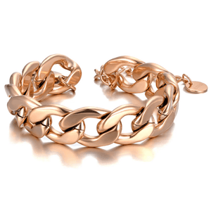 Bold Rose Gold Chain Linked Bracelet - Ella Moore