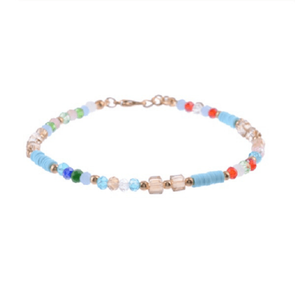 Colorful Crystal and Bead Boho Beach Anklet Ankle Bracelet - Ella Moore