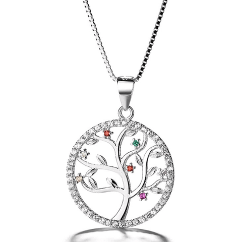 New Hope CZ Sterling Silver Tree of Life Necklace - Ella Moore