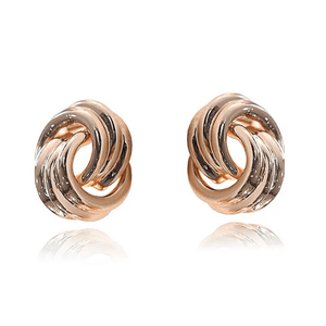 gold knot clip on earrings - Ella Moore