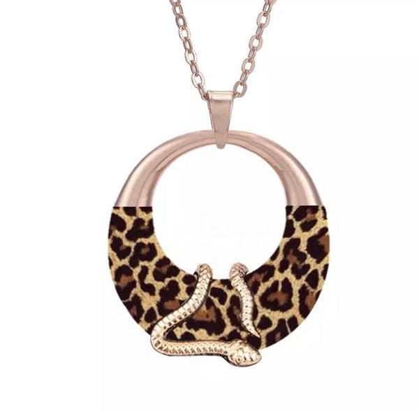 Large Bold Gold Snake Necklace - Ella Moore