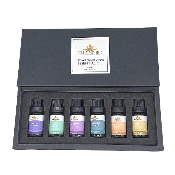 Charming Love Heart Aromatherapy Essential Oils Diffuser Necklace & Oils set - Ella Moore