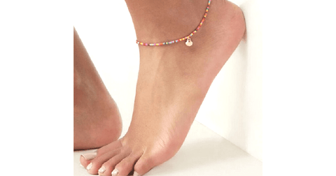 Sea Shell Charm Colorful Beaded Anklet - Ella Moore