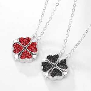 Amazing Reversible Magnetic CZ Sterling Silver Heart Necklace - Ella Moore