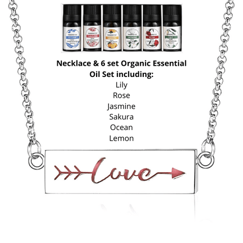 Express Yourself Word Aromatherapy Essential Oils Diffuser Necklace set