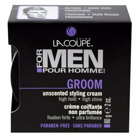LaCoupe for Men UNSCENTED GROOM STYLING CREAM - Case of 6|CRÈME COIFFANTE NON PARFUMÉE GROOM - Caisse de 6
