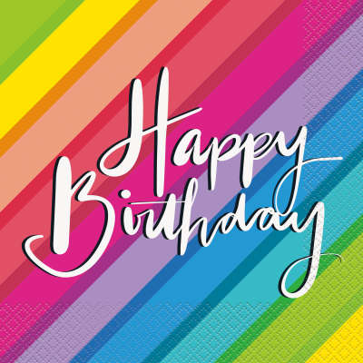 Rainbow Birthday Luncheon Napkins