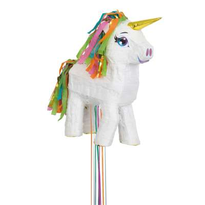 Unicorn Birthday Party Pinata - White