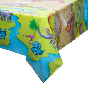 "Dinosaur Party Rectangular Plastic Table Cover 54""x84"""